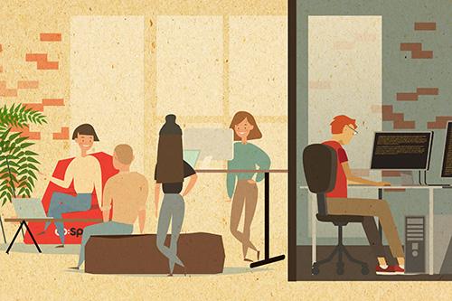 Jak otwarty plan biura wpływa na efektywność w pracy?